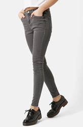 Topshop Moto 'Leigh' Ankle Skinny Jeans Grey Regular And Short