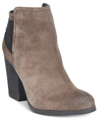 Kenneth Cole Reaction Might Make It Ankle Booties Women's Shoes Taupe Suede