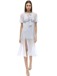 Alice Mccall Moon Talking Chiffon Midi Dress Light Blue