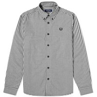 Fred Perry Two Tone Gingham Shirt Black