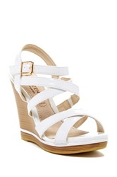Elegant Footwear Dayla Wedge Heel White