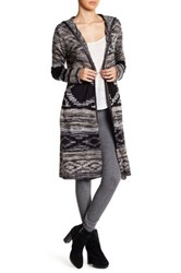 Angie Hooded Open Cardigan Black