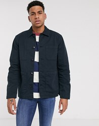 Farah Cassidy Worker Jacket In Navy