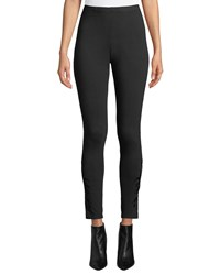 Johnny Was Plus Size Darielle Tonal Embroidered Leggings Black
