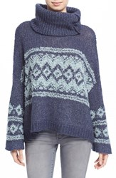 Women's Free People Fair Isle Split Neck Sweater