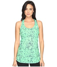 New Balance Accelerate Tunic Graphic Lime Glow Water Floral Women's Sleeveless Green