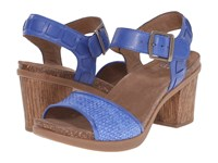 Dansko Debby Cobalt Full Grain Raffia Women's Sandals Blue