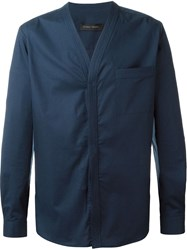 Christian Pellizzari V Neck Shirt Blue