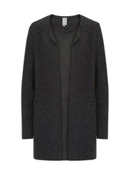 Betty And Co. Boiled Wool Cardigan Black