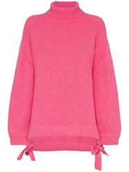 Ellery Wallerian Tie Side Jumper Pink And Purple