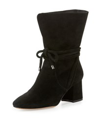 Alexandre Birman Suede 70Mm Ankle Tie Boot Black