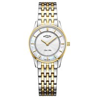 Rotary Women's Ultra Slim Bracelet Strap Watch Silver Gold