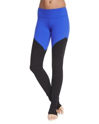 Alo Yoga Goddess 2 Colorblock Ribbed Sport Leggings Dp Elctrc Blu Blk