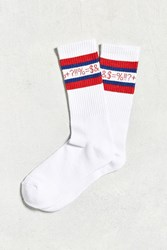 Urban Outfitters Curses Sport Sock White