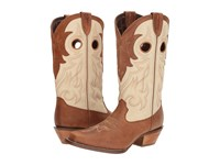 Durango Crush 12 Off The Collar Tan Cream Cowboy Boots Beige