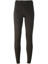 Steffen Schraut Goat Suede Leggings Brown