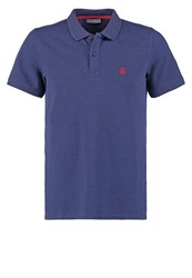 Selected Homme Shdaro Polo Shirt Dark Blue Melange Mottled Dark Blue