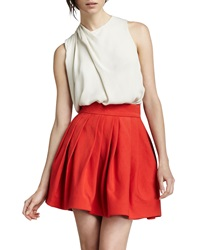 Halston Heritage Coral Bell Skirt With Poc
