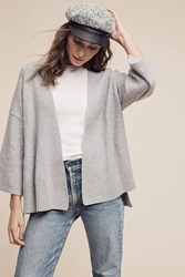 Anthropologie Alcott Belted Cardigan Grey