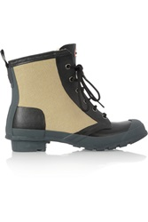 Hunter Thurloe Canvas And Rubber Ankle Boots