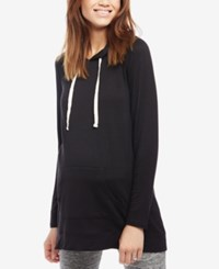 Motherhood Maternity French Terry Hoodie Black