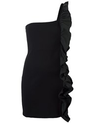 Amen Ruffle Detail Dress Black