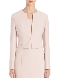 Boss Jiopela Cropped Ponte Blazer Light Pink