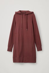 Cos Hooded Cotton Dress Red