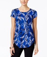 Alfani Printed Short Sleeve Top Only At Macy's Floral Stencil