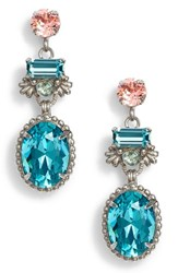 Sorrelli Bergenia Crystal Drop Earrings Aqua Pink