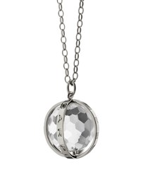 Monica Rich Kosann Extra Large Silver Carpe Diem Pendant Necklace 30 L