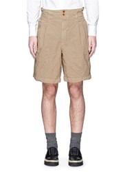 Kolor Elasticated Back Crinkle Bermuda Shorts Brown