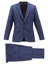 Paul Smith Soho Fit Single Breasted Virgin Wool Suit Blue