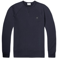 Acne Studios College Face Crew Sweat Navy