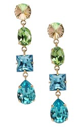 L. Erickson Women's 'Viola' Drop Earrings Lumi Green Peridot