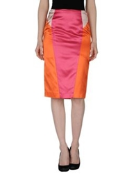 Gattinoni Knee Length Skirts Fuchsia