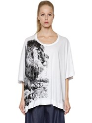 Vivienne Westwood Lion Printed Cotton Jersey T Shirt