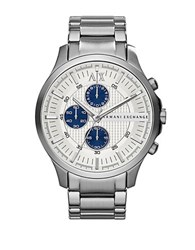 Armani Exchange Mens Silvertone Chronograph Watch