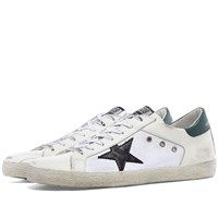 Golden Goose Superstar Leather And Canvas Sneaker White