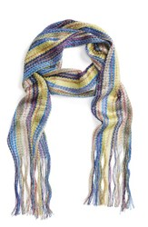 Collection Xiix Women's Havana Waves Slimmy Scarf Blue