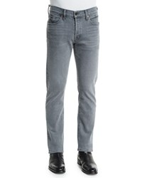 Tom Ford Straight Fit Yarn Dyed Selvedge Denim Jeans Light Gray Light Grey