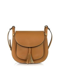 Le Parmentier Cognac Leather Crossbody Bag