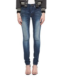 Saint Laurent Medium Wash Denim Jeans Blue