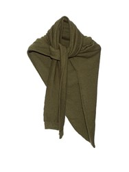 Christophe Lemaire Asymmetric Cotton Scarf Khaki