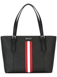 Bally Striped Detail Tote Black
