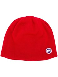 Canada Goose Standard Toque Hat Red