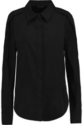 Donna Karan Cutout Cotton Blend Shirt Black