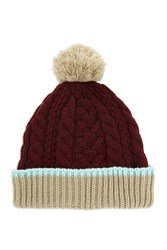Forever 21 Men Cable Knit Pom Pom Beanie