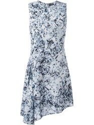 Mcq By Alexander Mcqueen Mcq Alexander Mcqueen Marble Print Draped Dress Multicolour