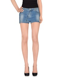 Tirdy Denim Denim Shorts Women Blue